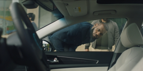 Intel works to accelerate consumer acceptance and build trust in the autonomous car future. One recent ad includes basketball legend LeBron James. (Credit: Intel Corporation)