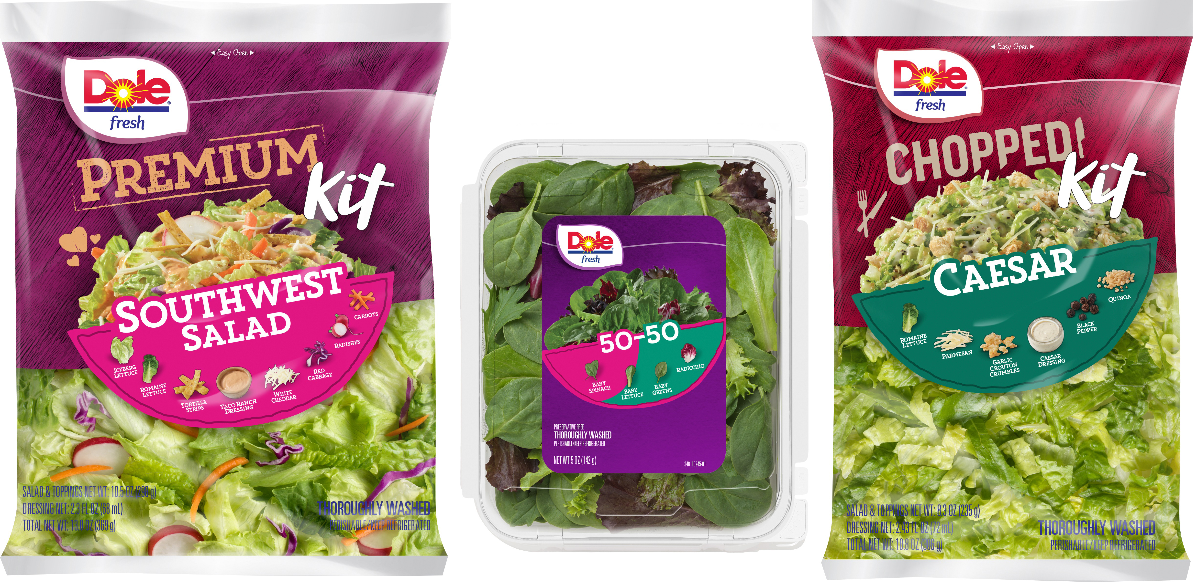 Dole Unveils Salad Bag Redesign And