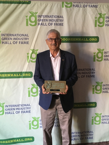 Naty Barak, Netafim's Chief Sustainability Officer, accepted induction into the International Green Industry Hall of Fame on behalf of all of those that have made Netafim into the drip irrigation leader it is today. (Photo: Business Wire)