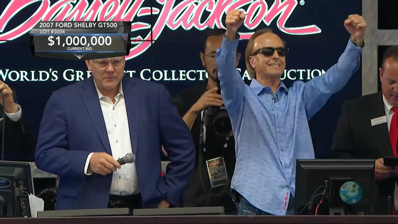 Barrett-Jackson raised a shattering $1 million for Las Vegas first responders during its 10th Annual Las Vegas Auction