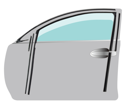 New structure glass runs and their placement on a vehicle (Graphic: Business Wire)