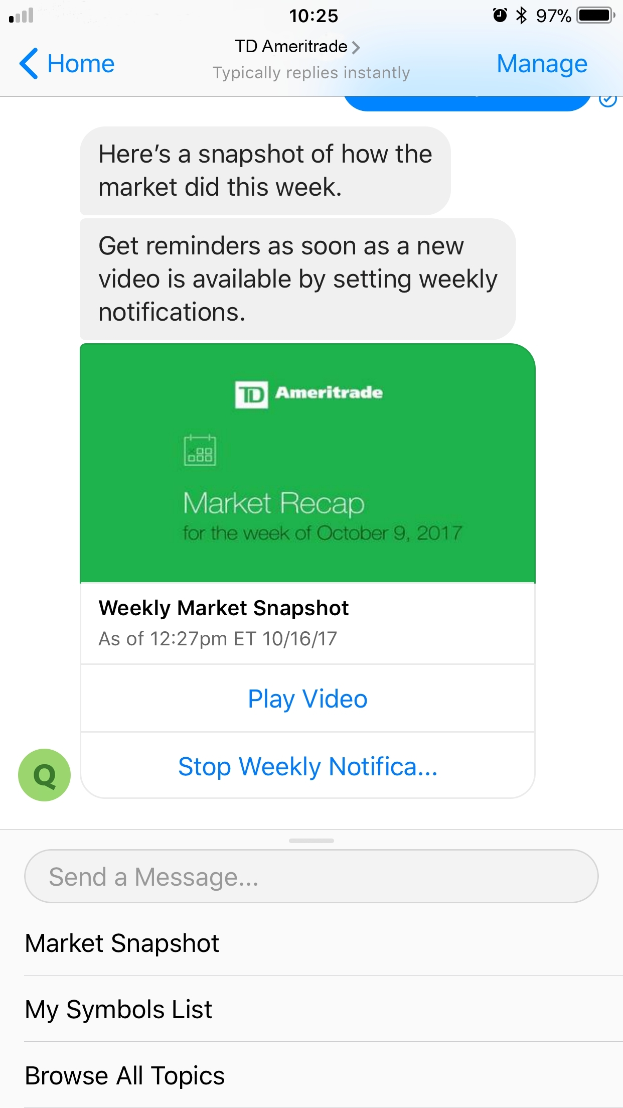 TD Ameritrade Enables Trading Through Messenger | Business Wire