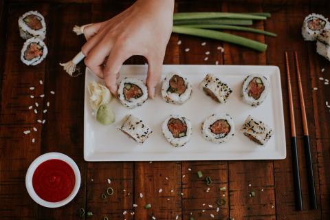 Dine-in guests can get a free Spicy Tuna Roll at participating P.F. Chang's this Thursday, October 26. (Photo: Business Wire)