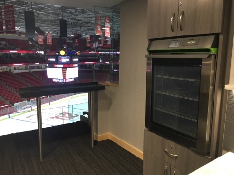 Phononic's food and beverage refrigerator installed at PNC Arena, a premier sports and entertainment venue in Raleigh, NC. (Photo: Business Wire)