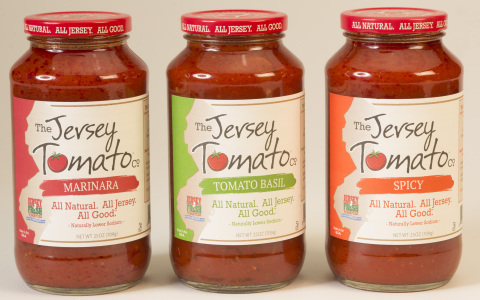 Three premium sauces from The Jersey Tomato Co. (Photo: Business Wire)