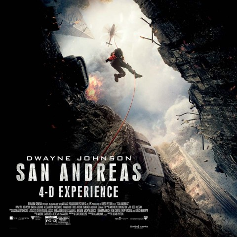 San Andreas 4-D Experience®: A heart-racing, non-stop adventure that follows a rescue-chopper pilot on a dangerous journey to rescue his daughter after a massive earthquake in California. (Photo: Business Wire)