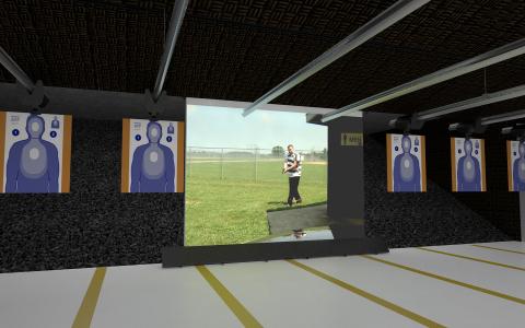 Meggitt Live-Fire Screen installed on a firing range (Photo: Business Wire)