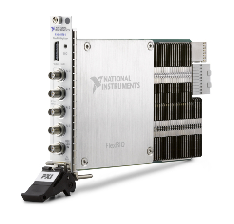 The new PXI FlexRIO architecture integrates mezzanine I/O modules with Xilinx Kintex Ultrascale FPGAs. The PXIe-5764 FlexRIO Digitizer is part of the first wave of products based on the new architecture, delivering high-speed sampling rates and wide bandwidth without compromising dynamic range. (Photo: Business Wire)