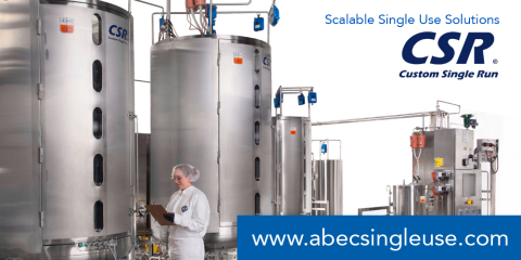 ABEC Custom Single Run (CSR®) Scalable Single-Use Solutions (Photo: Business Wire)