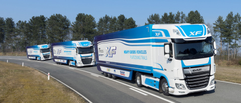 DAF XF Trucks Operating in a Platoon (Photo: Business Wire)