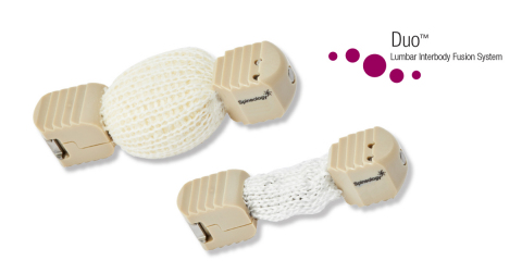 The Spineology Duo(TM) Lumbar Interbody Fusion System (Photo: Spineology).
