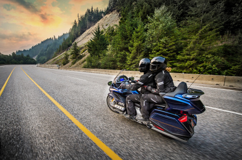 The all-new 2018 Honda Gold Wing Tour is lighter and nimbler, while still offering excellent touring performance. (Photo: Business Wire)