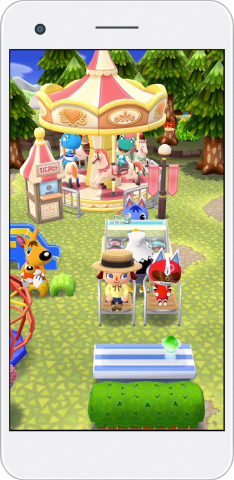 In Animal Crossing: Pocket Camp, you can chat with your animal friends or fulfill their requests to raise your friendship level. If you level up your friendship or decorate your campsite with an animal's favorite items, she or he might pay you a visit. (Graphic: Business Wire)