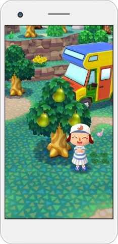 In the first Animal Crossing game for mobile devices, you can interact with animal friends, craft furniture items and gather resources while managing a campsite. (Graphic: Business Wire)