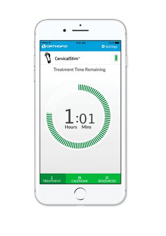 STIM onTrack mobile app for use with Orthofix CervicalStim and SpinalStim bone growth stimulators. ( ...