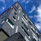 """The Philadelphia Chapter of the American Institute of Architects recognized DIGSAU and Hospitality 3 with a prestigious citywide Architectural Excellence Design Honor Award in the built category for their design of the Study at University City. The boutique hotel opened in January 2017 at the crossroads of Drexel University and the University of Pennsylvania in West Philadelphia. """"The structure is a bold simple urban form clearly articulated above a pedestrian base, with thoughtful detailing and fenestration that create an elegant and active façade,"""" commented the Architectural Excellence Award Jury, which was comprised of some of Chicago's leading architects. (Photo: Business Wire)"""