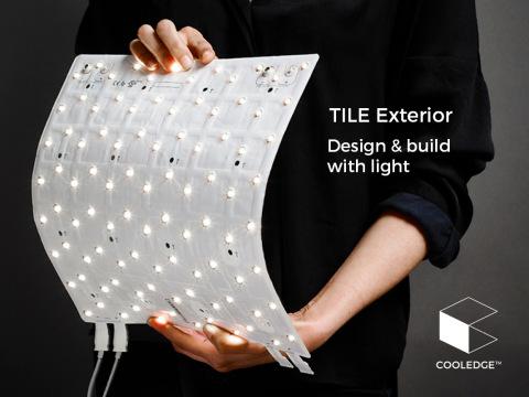 Cooledge TILE Exterior for luminous facades, canopies and building entrances (Photo: Business Wire)
