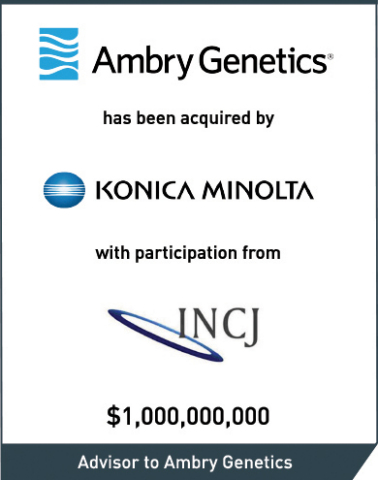 Intrepid served as the exclusive financial advisor to Ambry Genetics Corporation. (Graphic: Business Wire)