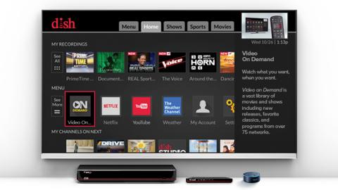 DISH Joey and Amazon Echo Dot (Photo: Business Wire)
