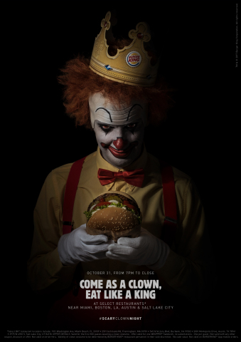 BURGER KING® Brand Invites an Army of Clowns to Celebrate Halloween (Photo: Business Wire)