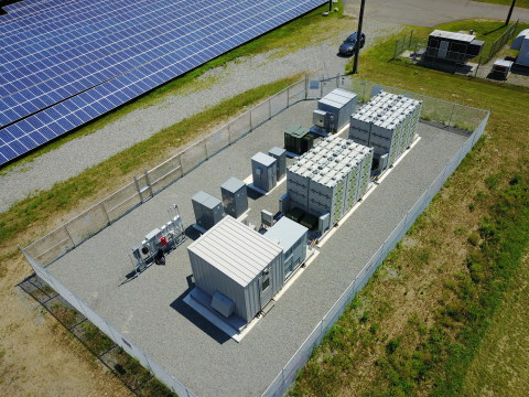 1 MWh Eos Aurora System Installed by Advanced Solar Products for PSE&G's Caldwell Wastewater Treatment Plant Solar Project (Photo: Eos Energy Storage)
