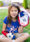 The 3D printed hand that lets Hailey be a fully active kid was produced by UNLV on a Stratasys 3D Printer. (Photo: Yong Dawson Photography)