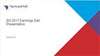 TechnipFMC Third Quarter 2017 Earnings Call Presentation