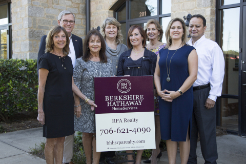 Broker Peter Field (back row, left) and his team have joined Berkshire Hathaway HomeServices as Berkshire Hathaway HomeServices RPA Realty. The brokerage is based in Greensboro, GA. (Photo: Business Wire)