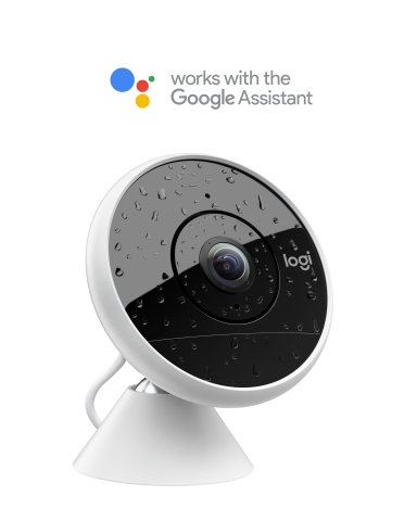 Logitech Circle 2 home security cameras now work with the Google Assistant (Photo: Business Wire)