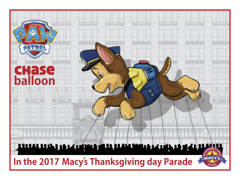 PAW Patrol balloon for the 91st Annual Macy's Thanksgiving Day Parade (Graphic: Business Wire)