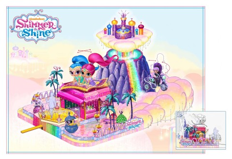 Shimmer and Shine float for the 91st Annual Macy's Thanksgiving Day Parade (Graphic: Business Wire)