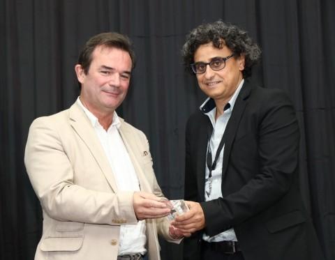 Joel Huloux, Chairman, MIPI Alliance (left) and Ariel Lasry, Chief Engineer, Toshiba Electronics Eur ...