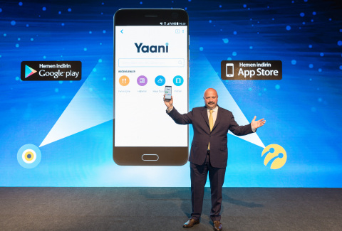 Turkcell's CEO Kaan Terzioglu speaks at the promotional event for the Turkcell's search engine 'Yaan ...