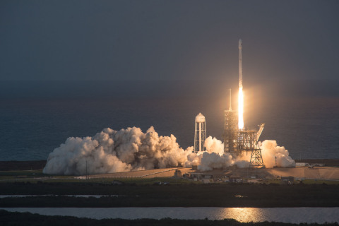 In October 2017, EchoStar 105/SES-11 was successfully launched using, for the second time, a flight-proven Falcon 9 rocket- Credit: SpaceX