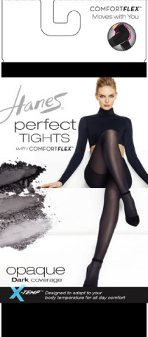 Hanes Hosiery is transforming tights with the introduction of the Perfect Tights collection. Featuring COMFORT FLEX® knitting, these anatomically correct luxury tights conform to the body for optimal comfort and fit. (Photo: Business Wire)