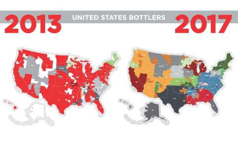 Coca-Cola's U.S. bottling business has transformed from a largely company-owned system in 2013 to one that is now operated by a diverse and highly capable group of local business owners. (Graphic: Business Wire)