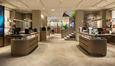 Orange Business Services is providing guest Wi-Fi and internet services for Nespresso's global boutiques, such as this one in Cannes, France. (Source: Nespresso)