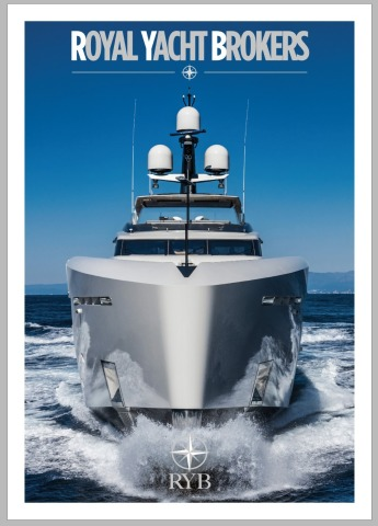 The cover of RYB Magazine featuring Motor Yacht Vertige, one of the numerous yachts RYB clients can  ...