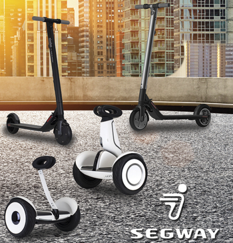 Segway Expands its Consumer Product Line with New Self-Balancing Personal Transporters and Smart, Lightweight Electric KickScooters (Photo: Business Wire)