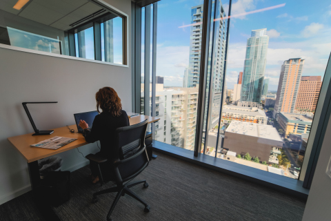 Firmspace's flagship location at downtown Austin's newest world-class urban development office center at 500 West 2nd Street. (Photo: Business Wire)