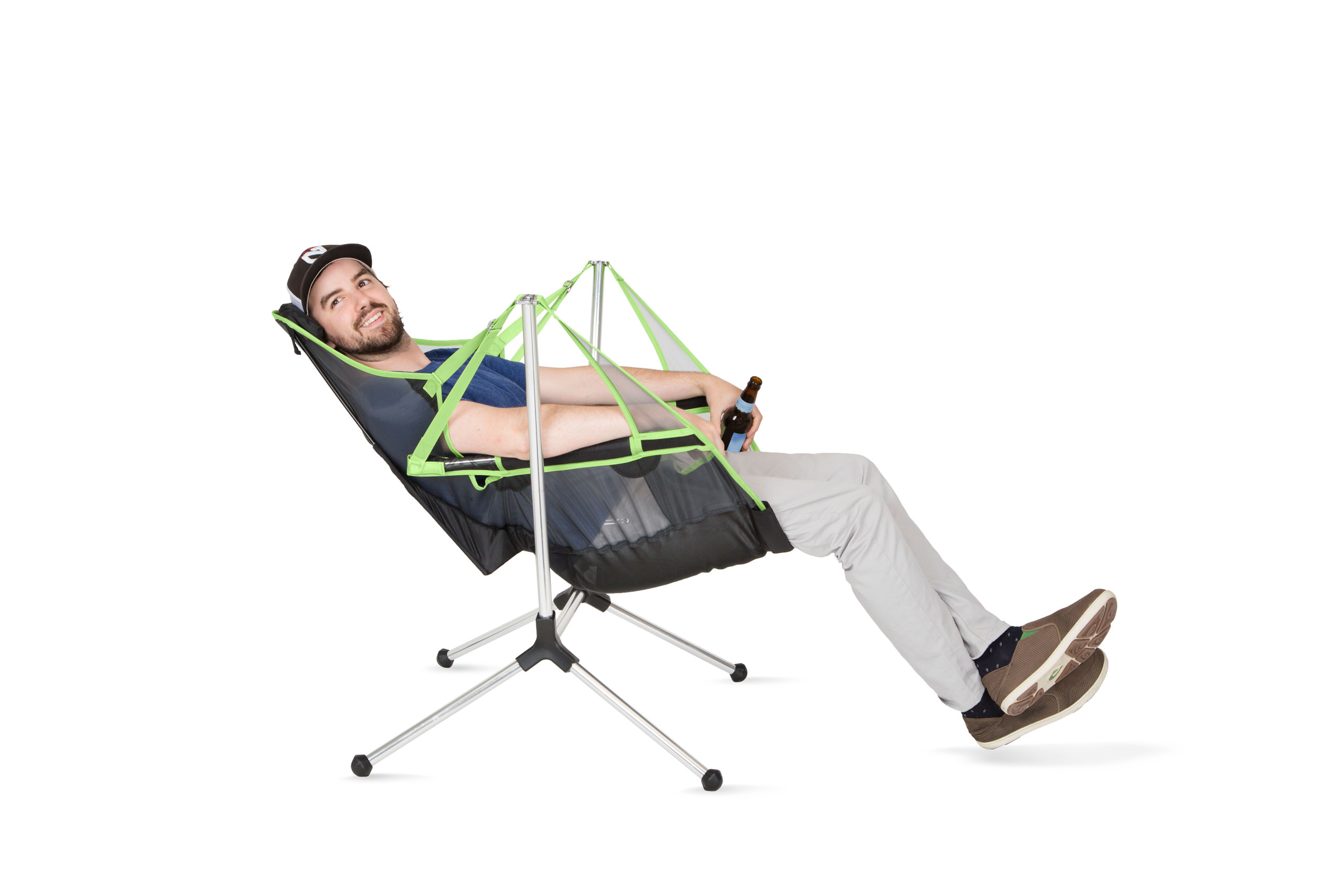 The First Ever Swinging And Reclining Camp Chair Hits The Market Today |  Business Wire