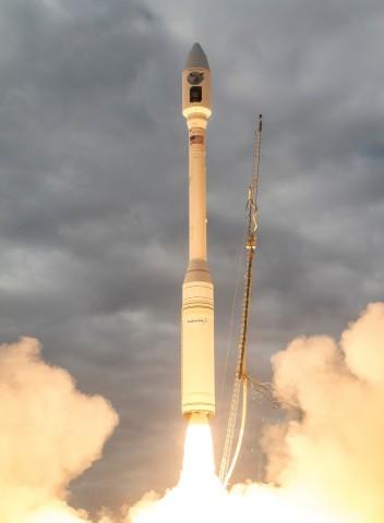 Orbital ATK's Minotaur C rocket launched from Vandenberg Air Force Base October 31, 2017, at 2:37 p. ...