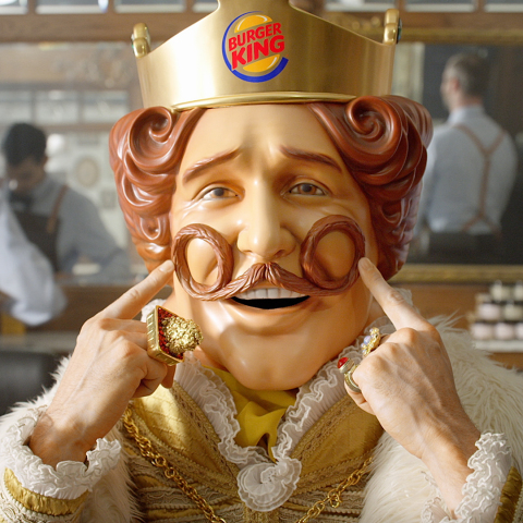 THE BURGER KING® KING SPORTS A NEW LOOK FOR MOVEMBER (Photo: Business Wire)