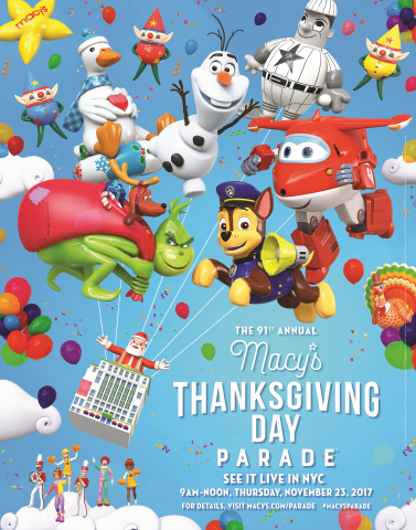 The world-famous Macy's Thanksgiving Day Parade® kicks off the Holiday Season with its 91st Spectacl ...