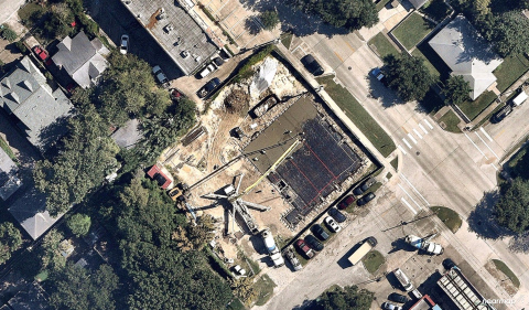 This high-resolution image from Nearmap PhotoMaps shows a new NewQuest retail development in Houston, Texas - Sept. 6, 2017 (Photo: Business Wire)
