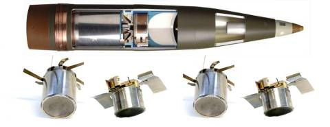 BAE Systems will deliver 254 additional rounds of Bofors 155mm BONUS ammunition to the Swedish Army. When launched from any 155-millimeter artillery system, the BONUS carrier shell separates to deploy two sensor-fuzed munitions that then search for targets within a given footprint, up to 32,000 square meters.  (Photo: BAE Systems)