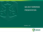 OMAM Reports Financial and Operating Results for the Third Quarter Ended September30, 2017