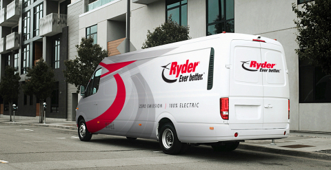 Ryder to begin offering to its customers Chanje's all-electric large delivery style van, which is equipped to haul up to 6,000 pounds and up to 580 cubic feet of cargo, all with zero vehicle exhaust emissions. (Photo: Business Wire)