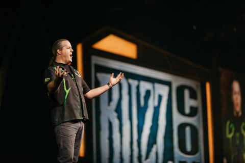 World of Warcraft Executive Producer J. Allen Brack unveils the game's next expansion, Battle for Azeroth, at BlizzCon 2017. (Photo: Business Wire)