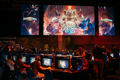 BlizzCon 2017 attendees delve into Hearthstone: Kobolds & Catacombs, the next expansion for Blizzard Entertainment's popular digital card game. (Photo: Business Wire)